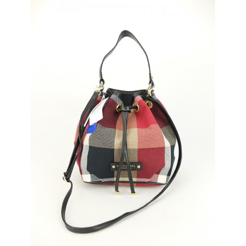 SOLD(已售出)(NEW) Blue Label Crestbridge Check Bucket Bag (Red) 4399ec2931a4a